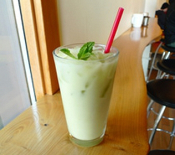 Iced Ginger Matcha Latte